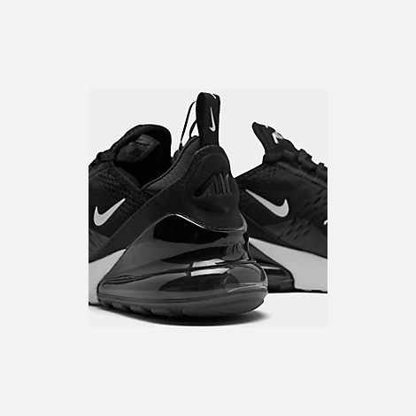 Front view of Women's Nike Air Max 270 Casual Shoes in Black/White/Anthracite/Solar Red