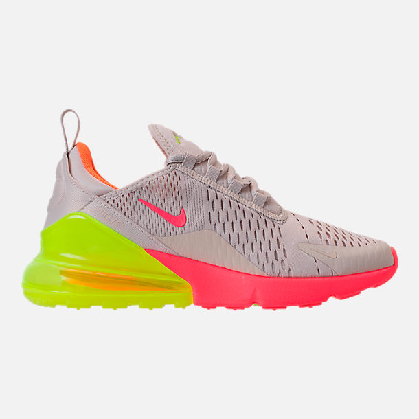 Right view of Women's Nike Air Max 270 Casual Shoes in Desert Sand/Hot Punch/Volight