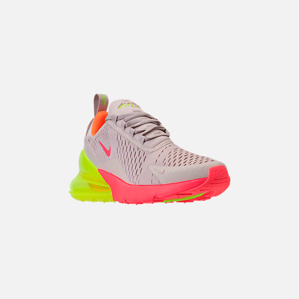 the latest 6878c c3a9f Three Quarter view of Women s Nike Air Max 270 Casual Shoes in Desert  Sand Hot