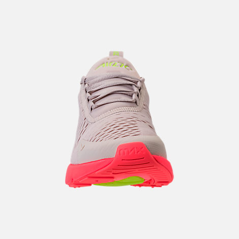 1465388cba0d Front view of Women s Nike Air Max 270 Casual Shoes in Desert Sand Hot Punch