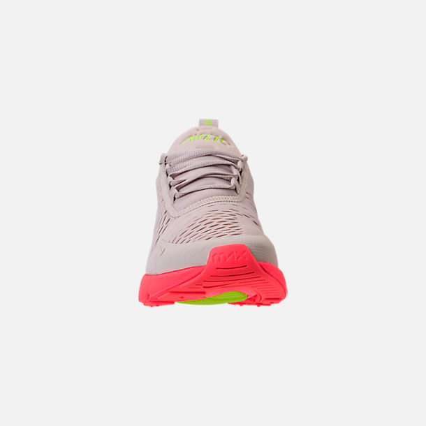 new concept 99d0c c12df Front view of Women s Nike Air Max 270 Casual Shoes in Desert Sand Hot Punch