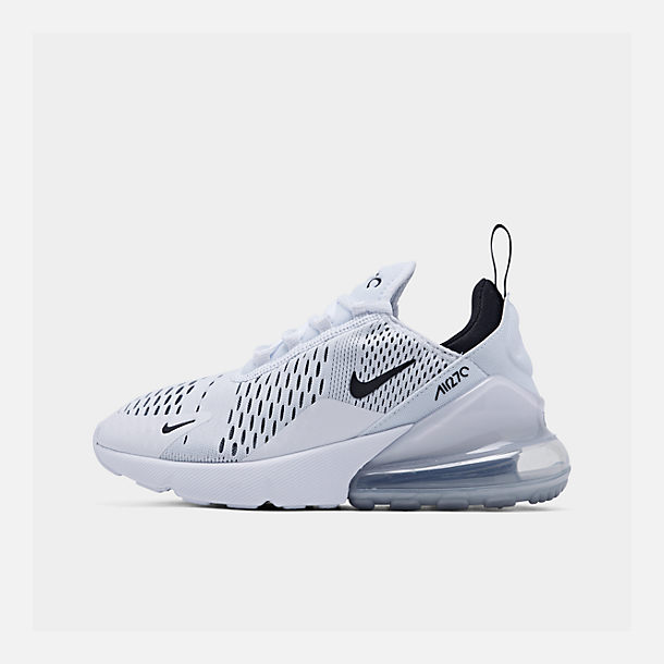 5543e42d9 Right view of Women's Nike Air Max 270 Casual Shoes in White/Black/White