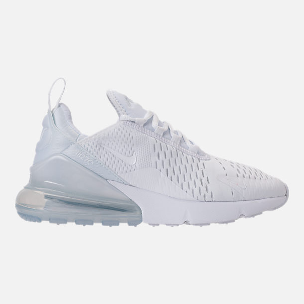 Right view of Women s Nike Air Max 270 Casual Shoes in White Black White ad953237c