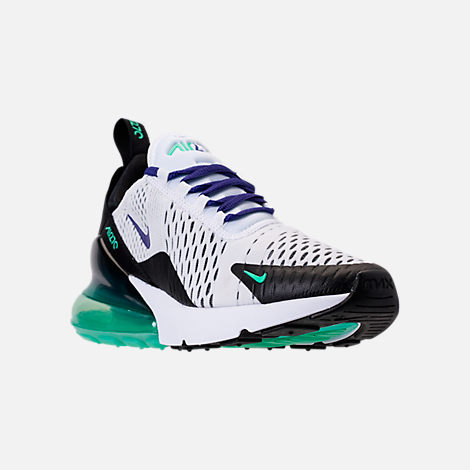 Three Quarter view of Women s Nike Air Max 270 Casual Shoes in White Court  Purple f57176c86