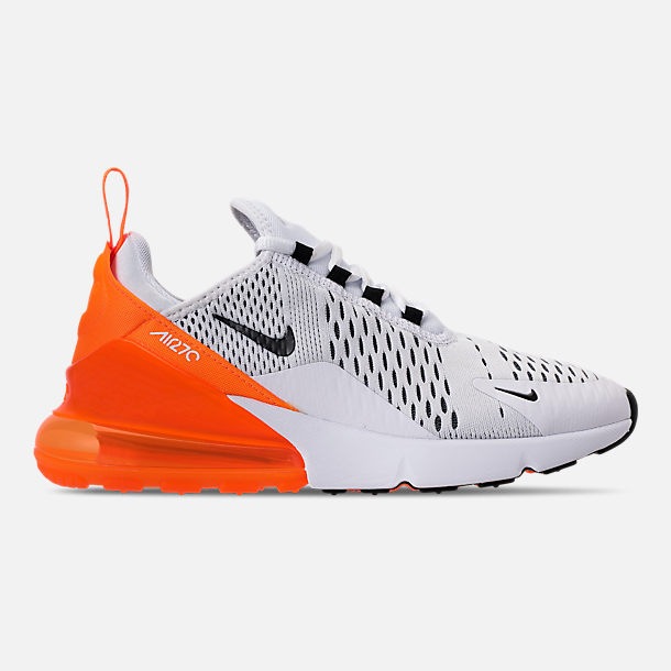 c70cbf29c5 Right view of Women's Nike Air Max 270 Casual Shoes in White/Black/Total