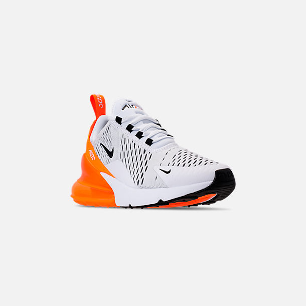 4612ed9057 Three Quarter view of Women's Nike Air Max 270 Casual Shoes in White/Black/