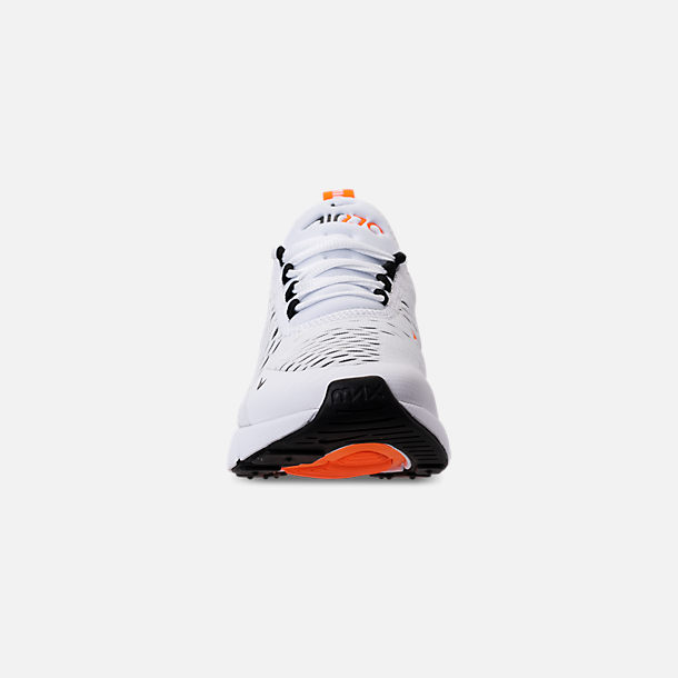 7819627558 Front view of Women's Nike Air Max 270 Casual Shoes in White/Black/Total