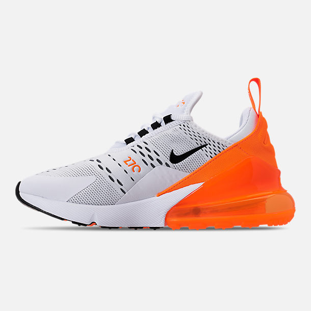 6087d3ff14 Left view of Women's Nike Air Max 270 Casual Shoes in White/Black/Total
