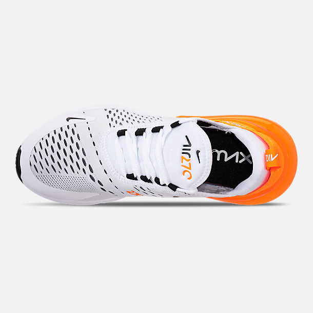8f4469e584 Top view of Women's Nike Air Max 270 Casual Shoes in White/Black/Total