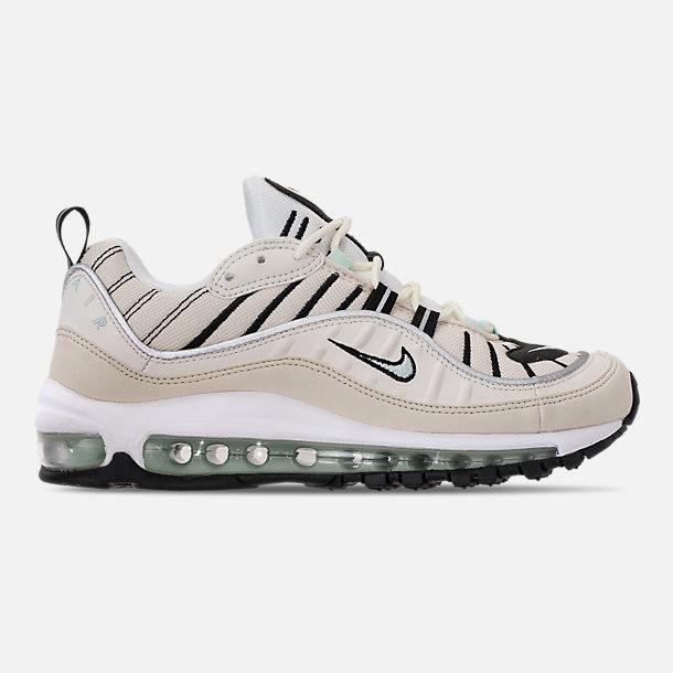 Right view of Women's Nike Air Max 98 Casual Shoes in Sail/Igloo/Fossil/Reflect Silver
