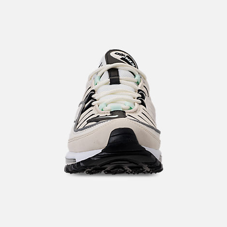 Front view of Women's Nike Air Max 98 Casual Shoes in Sail/Igloo/Fossil/Reflect Silver