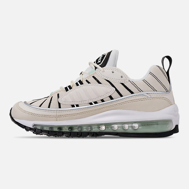 Left view of Women's Nike Air Max 98 Casual Shoes in Sail/Igloo/Fossil/Reflect Silver