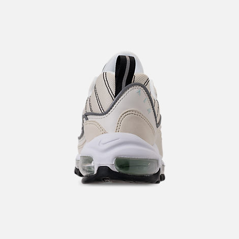 Back view of Women's Nike Air Max 98 Casual Shoes in Sail/Igloo/Fossil/Reflect Silver