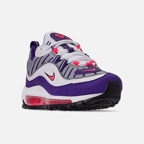 Three Quarter view of Women's Nike Air Max 98 Casual Shoes