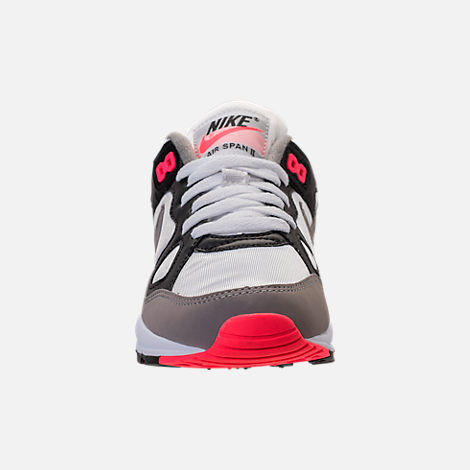 Front view of Women's Nike Air Span II Casual Shoes in Black/Dust/Solar Red