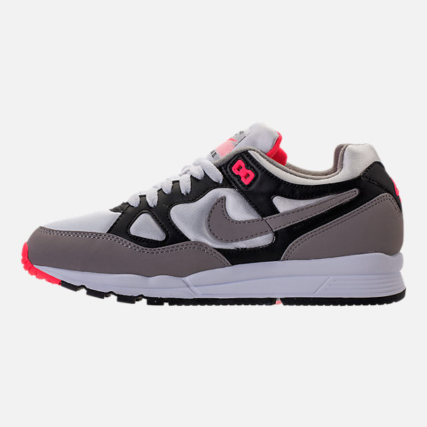Left view of Women's Nike Air Span II Casual Shoes in Black/Dust/Solar Red