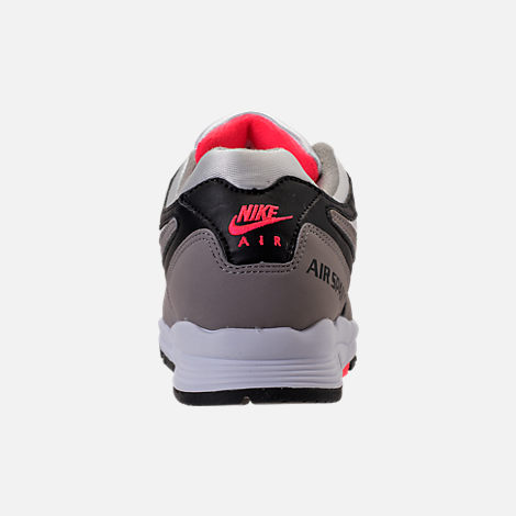 Back view of Women's Nike Air Span II Casual Shoes in Black/Dust/Solar Red