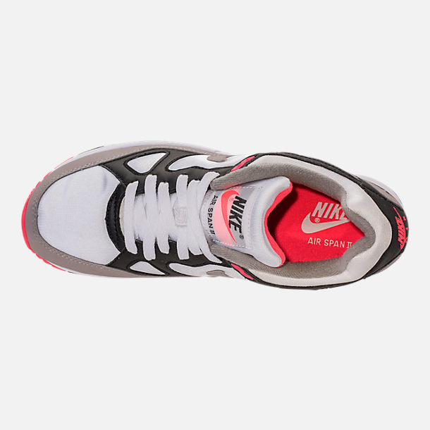 Top view of Women's Nike Air Span II Casual Shoes in Black/Dust/Solar Red