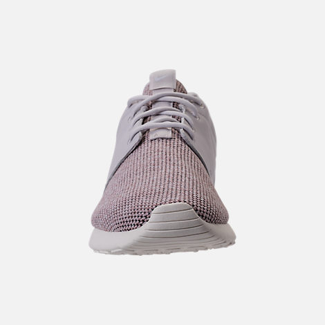 Front view of Women's Roshe One Knit Casual Shoes in Vast Grey/Particle Rose/Sail
