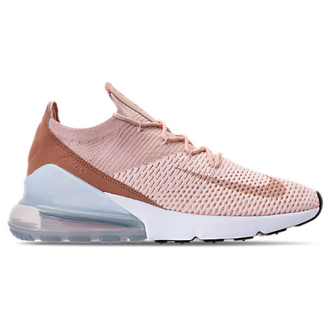 Women'S Air Max 270 Flyknit Casual Shoes, Brown, Guava Ice/ Beige/ Desert Dust