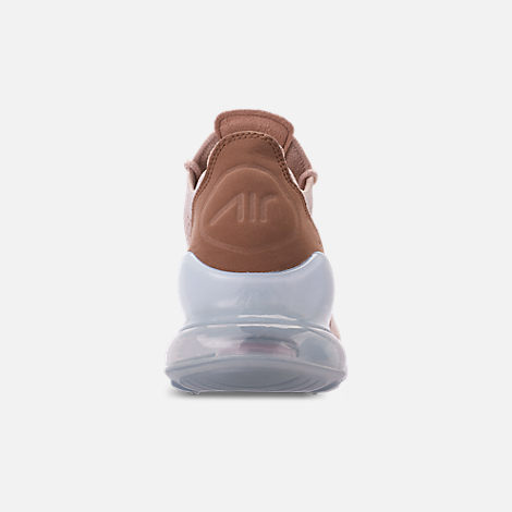 Back view of Women's Nike Air Max 270 Flyknit Casual Shoes in Guava Ice/Part Beige/Desert Dust