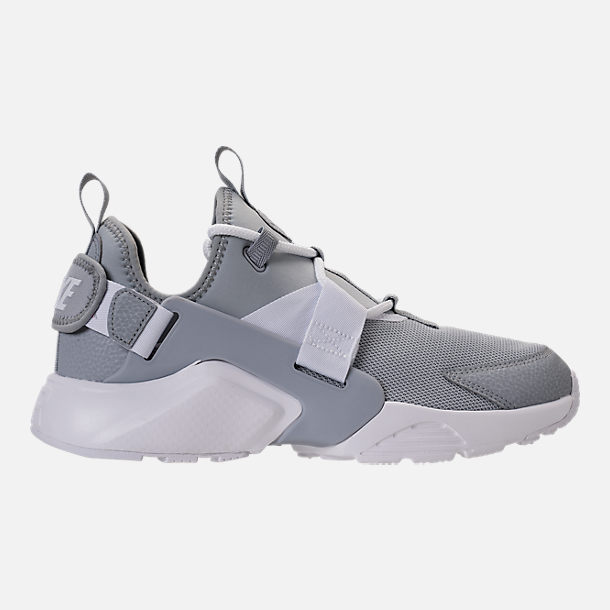 Right view of Women's Nike Air Huarache City Low Casual Shoes in Wolf Grey/Wolf Grey/White