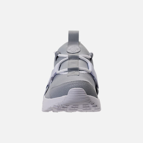 Front view of Women's Nike Air Huarache City Low Casual Shoes in Wolf Grey/Wolf Grey/White