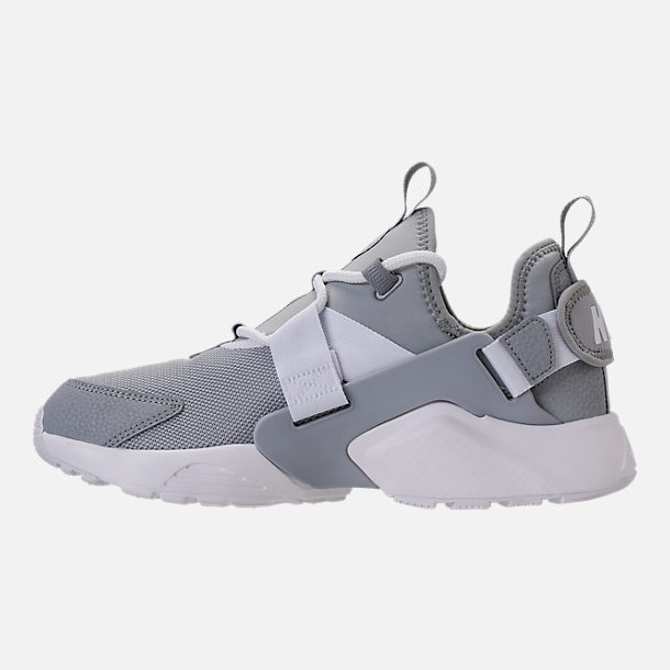 Left view of Women's Nike Air Huarache City Low Casual Shoes in Wolf Grey/Wolf Grey/White