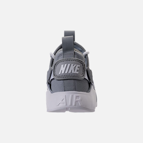 Back view of Women's Nike Air Huarache City Low Casual Shoes in Wolf Grey/Wolf Grey/White