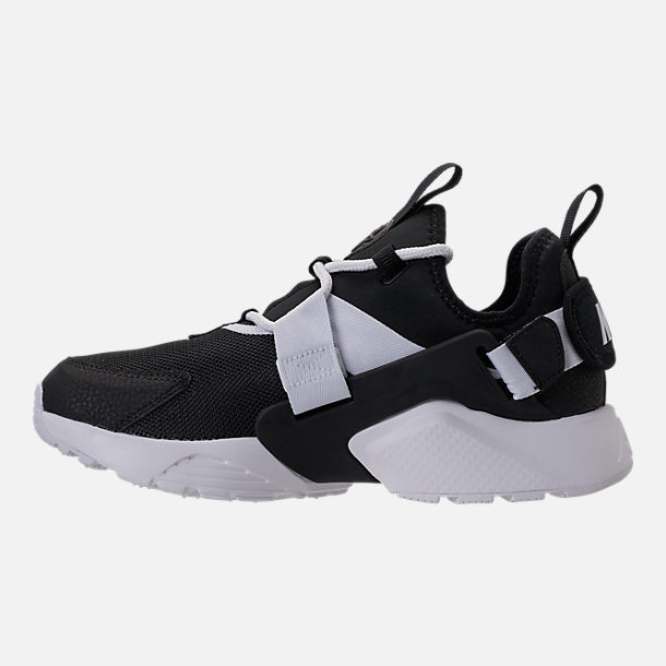 Left view of Women s Nike Air Huarache City Low Casual Shoes in Black Black  3ba5ea88d