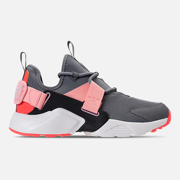 Right view of Women's Nike Air Huarache City Low Casual Shoes in Cool Grey/Summit White/Oracle Pink