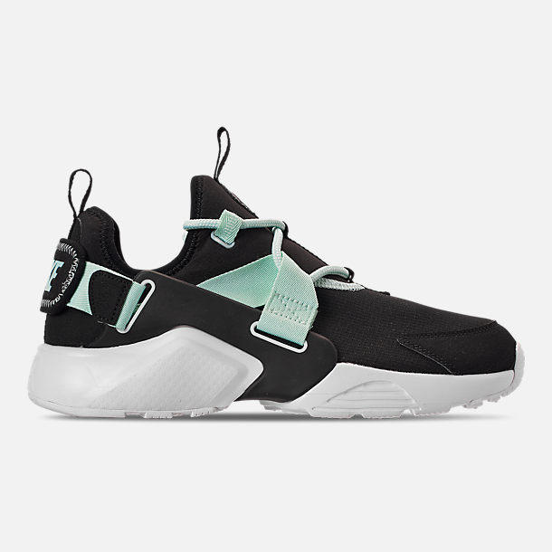 Right view of Women's Nike Air Huarache City Low Casual Shoes in Black/Igloo/White