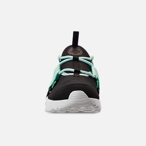 Front view of Women's Nike Air Huarache City Low Casual Shoes in Black/Igloo/White