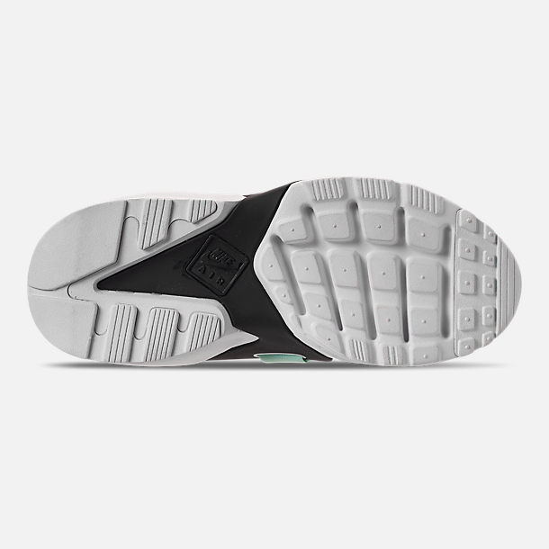 Bottom view of Women's Nike Air Huarache City Low Casual Shoes in Black/Igloo/White