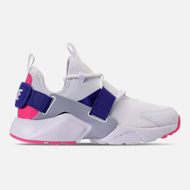 new concept 7ab14 f7a82 Right view of Women s Nike Air Huarache City Low Casual Shoes in White Wolf  Grey