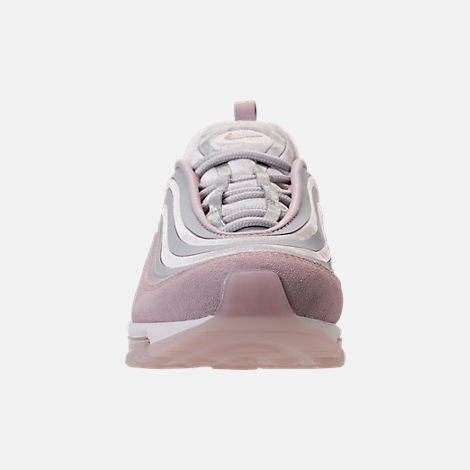 Front view of Women's Nike Air Max 97 Ultra Lux Casual Shoes in Vast Grey/Summit White/Particle Rose