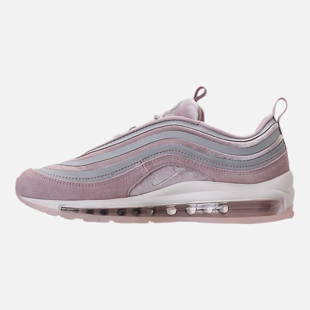 Left view of Women's Nike Air Max 97 Ultra Lux Casual Shoes in Vast Grey/Summit White/Particle Rose