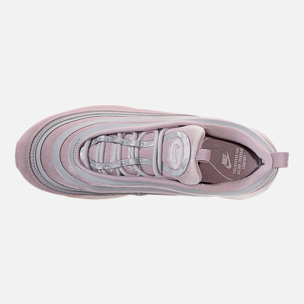 Top view of Women's Nike Air Max 97 Ultra Lux Casual Shoes in Vast Grey/Summit White/Particle Rose
