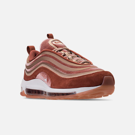 Three Quarter view of Women's Nike Air Max 97 Ultra Lux Casual Shoes