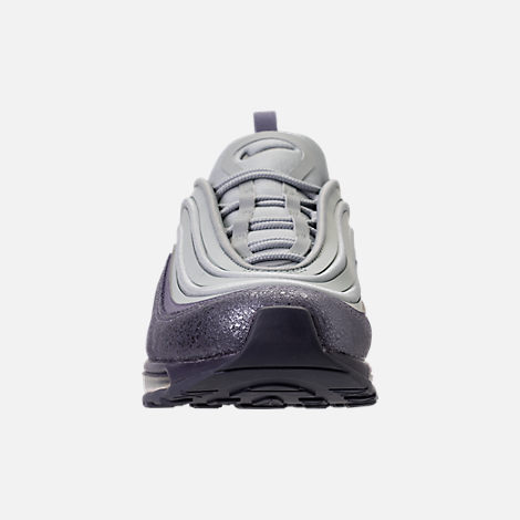 Front view of Women's Nike Air Max 97 Ultra 2017 SE Casual Shoes in Light  Pumice