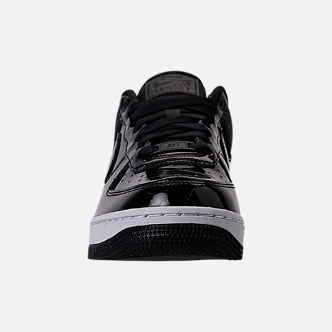Front view of Women's Nike Air Force 1 '07 SE Premium Casual Shoes in Black/Reflective Silver