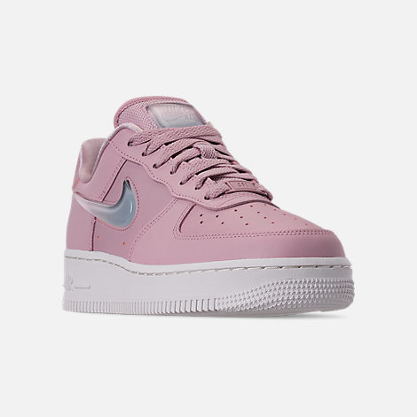 Three Quarter view of Women's Nike Air Force 1 '07 SE Premium Casual Shoes in Plum Chalk/Obsidian Mist/Summit White