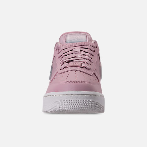 Front view of Women's Nike Air Force 1 '07 SE Premium Casual Shoes in Plum Chalk/Obsidian Mist/Summit White