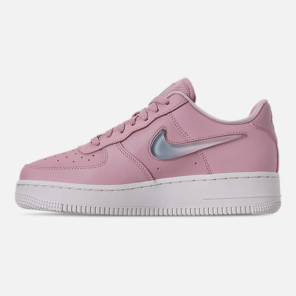 Left view of Women's Nike Air Force 1 '07 SE Premium Casual Shoes in Plum Chalk/Obsidian Mist/Summit White
