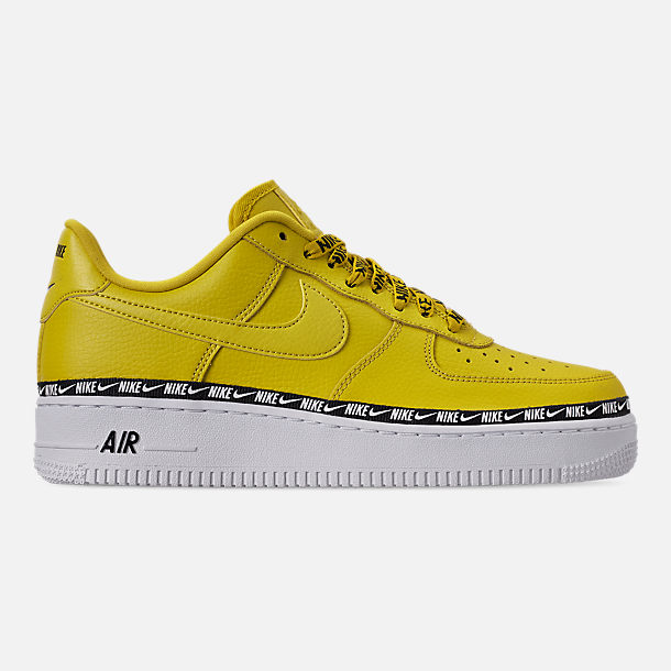 Right view of Women's Nike Air Force 1 '07 SE Premium Casual Shoes in Bright Citron/Black/White