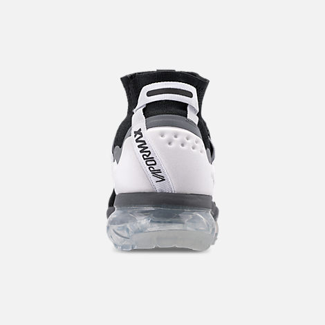 Back view of Men's Nike Air VaporMax Flyknit Utility Running Shoes in Black/Cool Grey/White/Pure Platinum