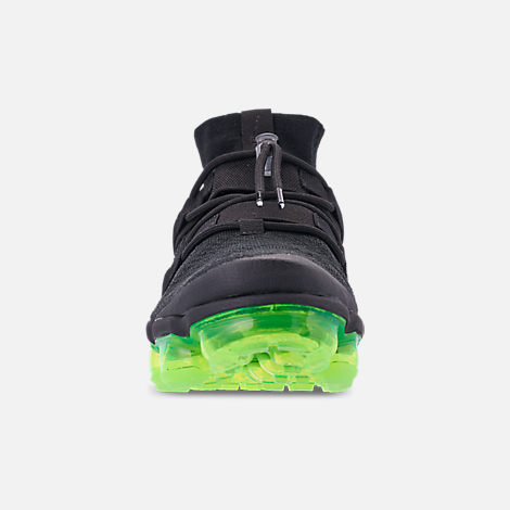 0cf588b39687 Front view of Men s Nike Air VaporMax Flyknit Utility Running Shoes in Black  Volt