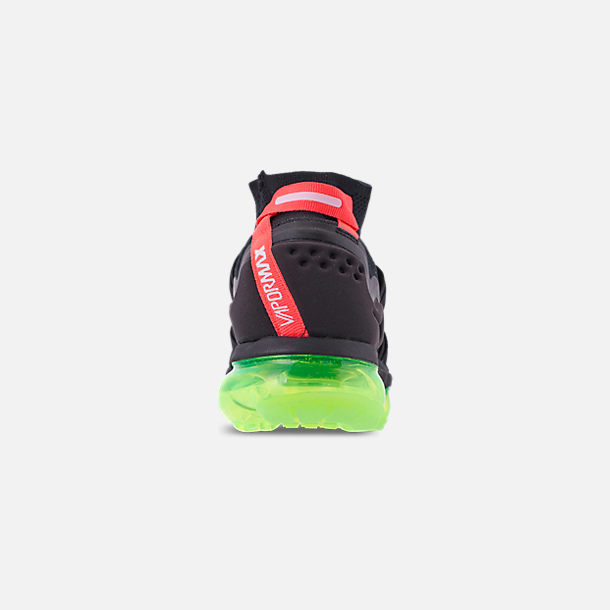 7fc29c6eef9 Back view of Men s Nike Air VaporMax Flyknit Utility Running Shoes in Black  Volt