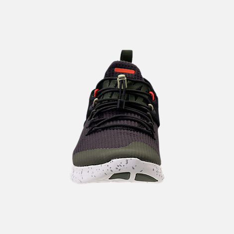 Front view of Women's Nike Free RN Commuter 2017 Utility Running Shoes in Black/Neutral Olive/Cargo Khaki