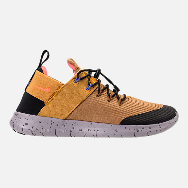 Right view of Women's Nike Free RN Commuter 2017 Utility Running Shoes in Elemental Gold/Burnt Mango/Black